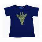 Donkerblauwe t-shirt met giraf - Tarba dark blue