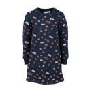 Donkerblauw kleedje met figuurtjes - navy charlie - maat 98 (Geboortelijst Lilly H.)