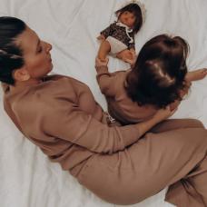 Bruingrijze pyjama - Cappucino - Dames