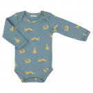 Blauwe body met wezels - Whippy weasel body long sleeve