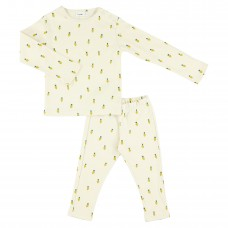 Ecru pyjama met raapjes - Tiny Turnip