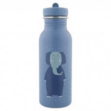Grijsblauwe drinkbus met olifant 500 ml - Mr. elephant [backtoschool]