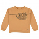 Caramelkleurige sweater luiaard - Sweater silly sloth
