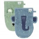 Set van 2 washandjes - Mr. Polar Bear/Mrs. Elephant