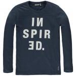 Donkerblauwe t-shirt lange mouwen inspired - parisian night nimbin