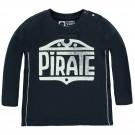 Donkerblauwe t-shirt pirate met glow in the dark opschrift - sky captain toowooba - maat 68 (Geboortelijst Joa v.G.)