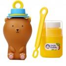 Bellenblaas met touwtje - Fun anti-spill pals (brown bear)