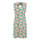 Fleurig kleed met bloemen - hydra green