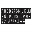 Lightbox letter set - monochrome letters