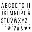 Lightbox letter set - basic
