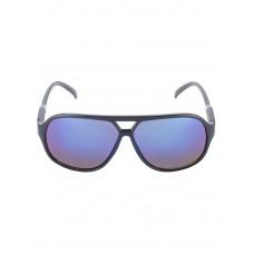 Zwarte kinderzonnebril met blauw getinte glazen - nitsunglasses black and blue