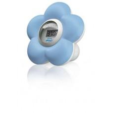 Digitale bad- en kamerthermometer blauwe Avent bloem (incl. 0,05 € recupel)