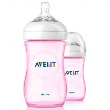 Duo-pakket Natural zuigfles Avent roze- 260 ml