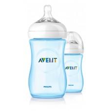 Duo-pakket Natural zuigfles Avent blauw- 260 ml