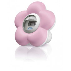 Digitale bad- en kamerthermometer roze Avent bloem (incl. 0,05 € recupel)