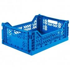 Kratje blue midi - folding crate