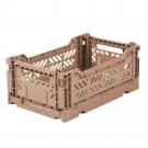 Kratje warm taupe small - folding crate warm taupe mini