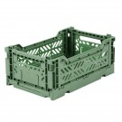 Kratje almond green small - folding crate