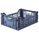 Kratje cobalt blue medium - folding crate