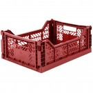 Kratje tile red medium - folding crate