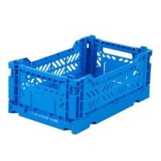 Kratje blue  small- folding crate