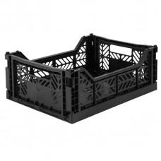 Kratje black midi - folding crate