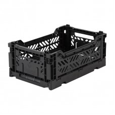 Kratje black small - folding crate black mini