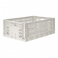 Kratje light grey large- folding crate