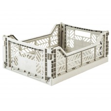 Kratje light grey midi - folding crate