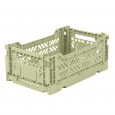 Kratje lime cream small- folding crate
