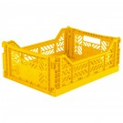 Kratje Yellow midi - folding crate