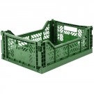 Kratje dark green midi - folding crate