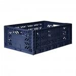 Kratje navy blue large - folding crate