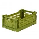 Kratje olive small- folding crate