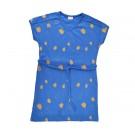 Kobaltblauw tuniekkleed met gouden tulpjes  (stapelkorting)