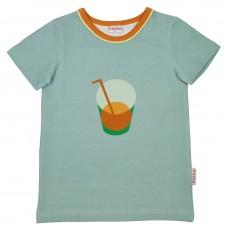 Grijsblauwe t-shirt met drankje - T-shirt boys ether (stapelkorting)
