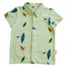 Muntgroen hemdje met kajaks - Boys shirt kayak river
