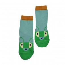 Lichtblauwe sokken - Socks happy beetles