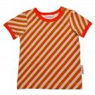 Gestreepte t-shirt - Tshirt girl diagonal pink