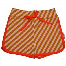 Gestreept shortje - Short diagonal pink (stapelkorting)