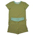 Pyjama met strepen - Pyjama short diagonal blue (stapelkorting)
