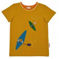 Mosterdkleurige t-shirt met kajaks - T-shirt boys chai tea