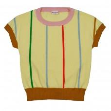 Ecru gebreide t-shirt - Brielle knitshirt anise flower