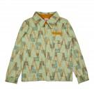 Muntgoen hemdje met geometrisch motief )  Boysshirt longsleeves geometric