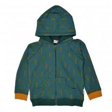 Petrolblauwe hoodie met streepjes - Hoodie dancing stripes