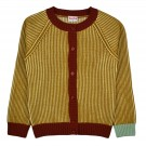 Mosterdgele gebreide cardigan - Alice cardigan mustard stripes