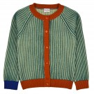 Petrolkleurige gebreide cardigan - Alice cardigan pacific stripes