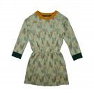 Sweaterdress met geometrisch motief - Sweaterdress jacquard geometric