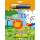 Kleuren met water - de dierentuin  (Geboortelijst Loïc P.)