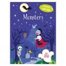 Stickerboek monsters - glow in the dark